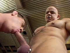 Handsome muscular dilf fuck a very cute muscle stud at work daddy gay porn