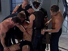 Amazing gay group sex with muscular studs in here ! daddy gay porn
