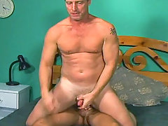 Sensual dilf get fucked by his stepson in his bed room daddy gay porn