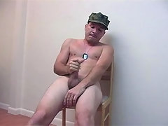 Military Man Masturbates On Chair Till Come daddy gay porn